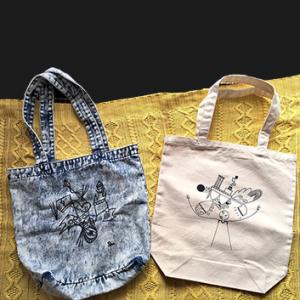 尾崎芹奈さんのアートバッグ