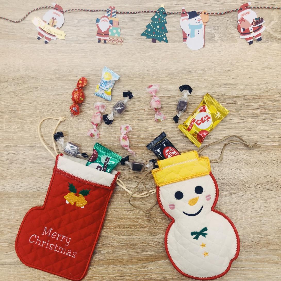 世界にひとつ!クリスマス刺繍巾着ワークショップ